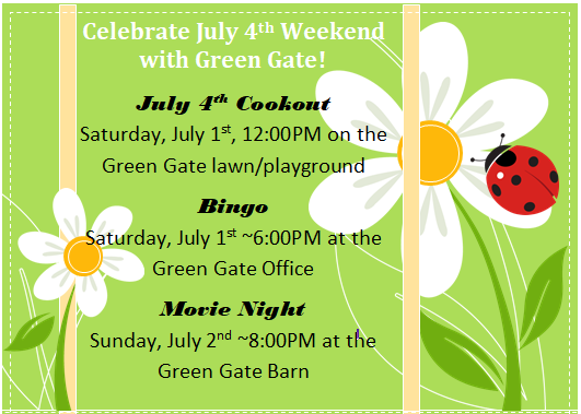 Green Gate July 4th Events